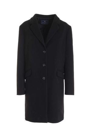 SINGLE-BREASTED COAT IN BLACK PAOLO FIORILLO CAPRI | 17 | 30682730019