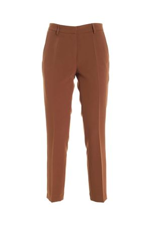 SLASH SIDE POCKETS PANTS IN BROWN PAOLO FIORILLO CAPRI | 20000005 | 30712156BRUCIATO
