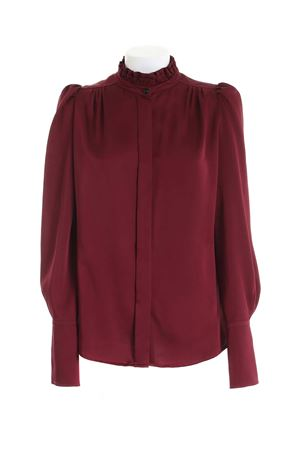 RUFFLES SHIRT IN BURGUNDY COLOR PAOLO FIORILLO CAPRI | 6 | 30732701GRANADA