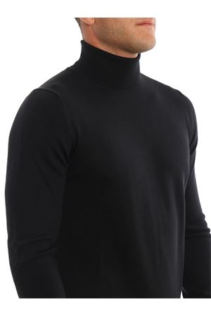 BLACK PURE WOOL TURTLENECK SWEATER PAOLO FIORILLO CAPRI | 7 | 5515714290099