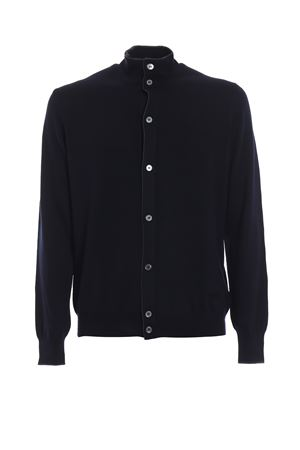 CONTRASTING TRIM DETAIL VIRGIN WOOL CARDIGAN PAOLO FIORILLO CAPRI | 39 | 5516014266598