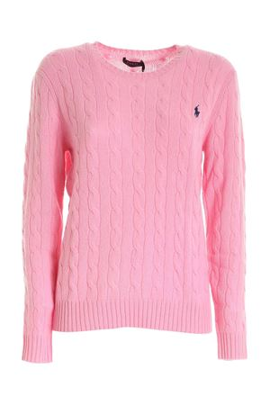 Pink twist knit cotton sweater POLO RALPH LAUREN | 7 | 211525764066