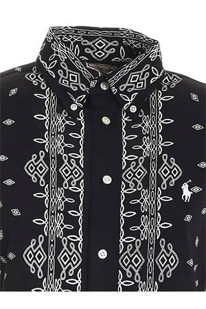 CONTRASTING PRINTS SHIRT IN BLACK POLO RALPH LAUREN | 6 | 211800296001
