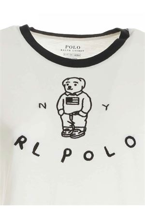 LOGO EMBROIDERY T-SHIRT IN IVORY COLOR POLO RALPH LAUREN | 8 | 211800297001