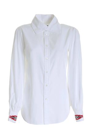 CONTRASTING EMBROIDERY SHIRT IN WHITE POLO RALPH LAUREN | 6 | 211801087001