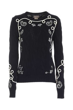 WHITE EMBROIDERY PULLOVER IN BLACK POLO RALPH LAUREN | -1384759495 | 211801497001