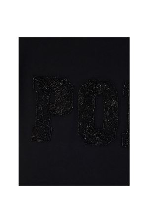 BLACK BEADED LOGO T-SHIRT POLO RALPH LAUREN | 8 | 211814484002