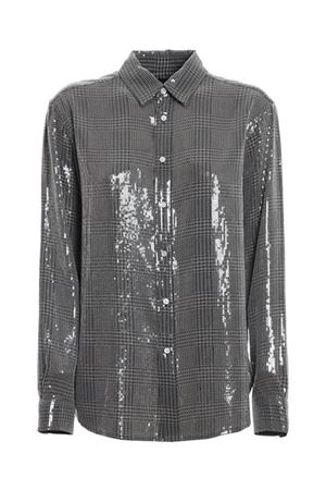 SEQUINED PRINCE OF WALES SHIRT IN GREY POLO RALPH LAUREN | 6 | 211815385001