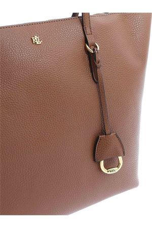 GOLDEN LOGO SHOPPER IN BROWN POLO RALPH LAUREN | 5032266 | 431752879011