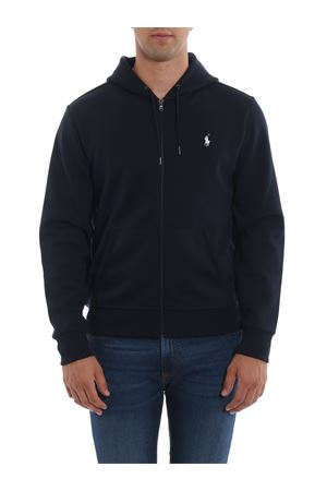 STRETCH COTTON HOODIE IN BLUE POLO RALPH LAUREN | -108764232 | 710652313008
