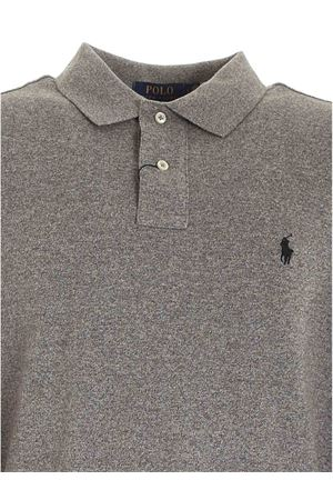 LOGO EMBROIDERY POLO SHIRT IN MELANGE GREY POLO RALPH LAUREN | 2 | 710681126003