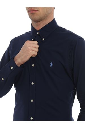 BLUE SHIRT WITH BLUE LOGO EMBROIDERY POLO RALPH LAUREN | 6 | 710705269006