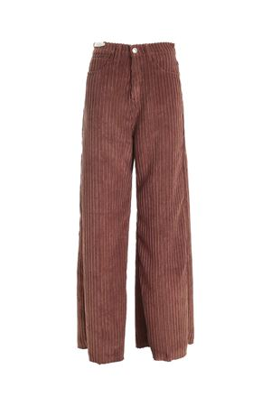 AVRIL WIDE LEG PANTS IN BROWN RE-HASH | 20000005 | P3964092NL0055