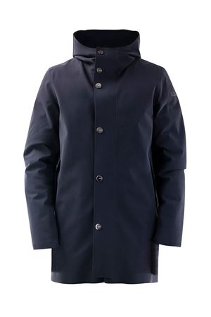 HOODED PUFFER JACKET IN BLUE RRD | 18 | W2002060
