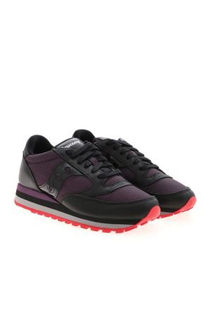 JAZZ TRIPLE SNEAKERS IN BLACK AND PURPLE