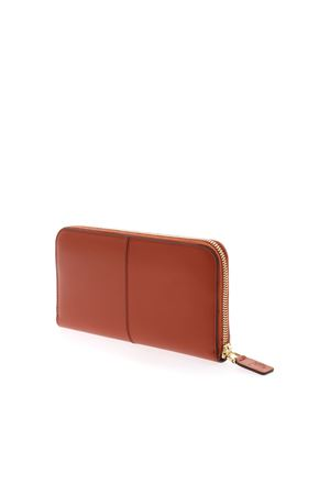 LOGO WALLET IN BRICK COLOR TOD