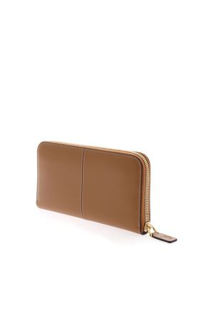 LOGO WALLET IN BROWN TOD