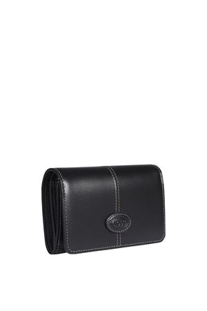 LOGO PATCH WALLET IN BLACK TOD