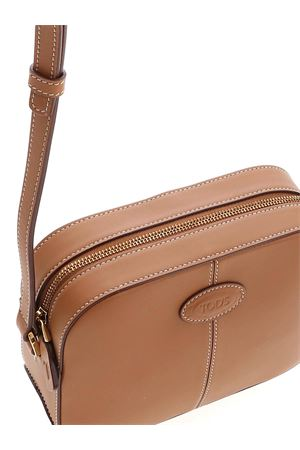 LOGO SHOULDER BAG IN LEATHER COLOR TOD