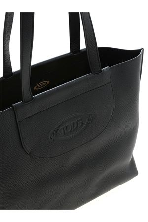 MEDIUM SHOPPER BAG IN BLACK TOD