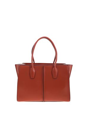 SHOULDER BAG IN BRICK COLOR TOD