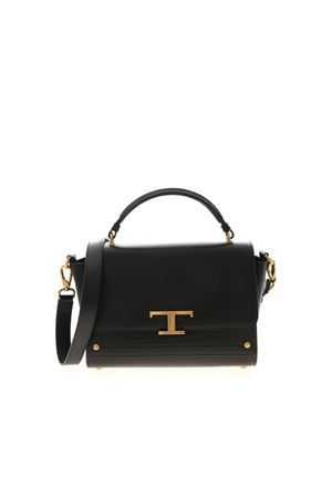MESSENGER SMALL HANDBAG IN BLACK TOD