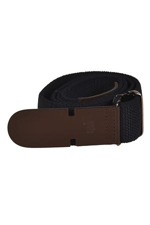BLUE BELT IN CANVAS AND LEATHER
