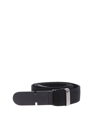 BLACK BELT IN CANVAS AND LEATHER TOD