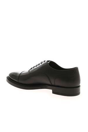 BLACK LACE-UPS IN LEATHER  TOD