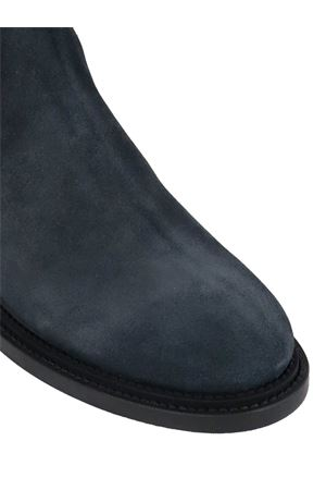 BLUE ANKLE BOOTS IN SUEDE  TOD