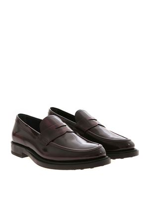 BURGUNDY EDGES LOAFERS TOD