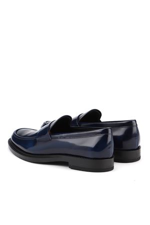 BRUSHED LEATHER LOAFERS IN BLUE TOD