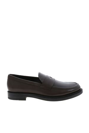 BROWN LEATHER LOAFERS FEATURING PENNY BAR TOD