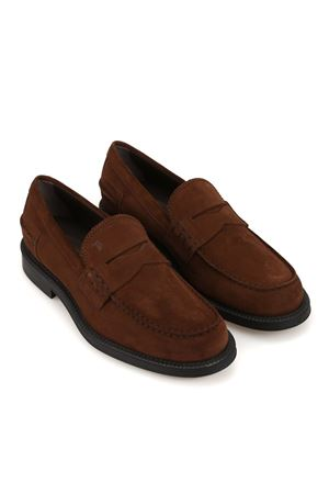 SUEDE LOAFERS IN BROWN TOD