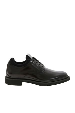 LACE-UPS IN LEATHER BLACK TOD