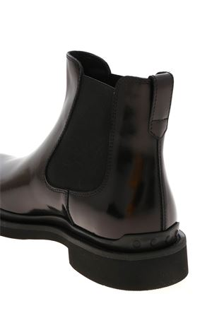 ANKLE BOOTS IN LEATHER BLACK TOD