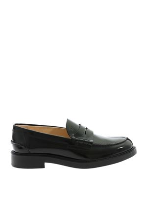 LEATHER LOAFERS IN BLACK TOD
