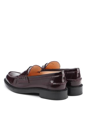 PATENT LEATHER COLLEGE LOAFERS IN WINE COLOR TOD