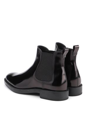 PATENT LEATHER ANKLE BOOTS IN BLACK TOD