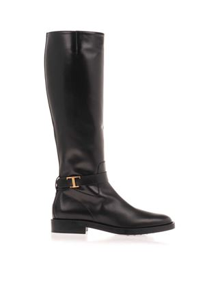T LOGO BOOTS IN BLACK TOD