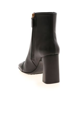 LOW ANKLE BOOTS WITH SHINY TIP TOD