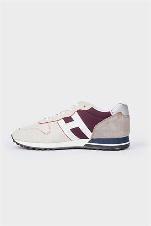 H383 GRAY AND RED SNEAKERS HOGAN | 120000001 | HXM3830DO92QEM945F