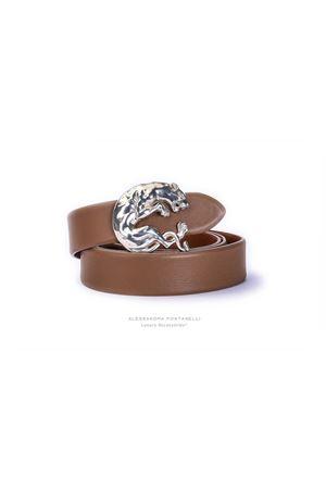 Cintura  in pelle bovina bio-naturale ALESSANDRA FONTANELLI | 22 | PANTERA h35BISCOTTO