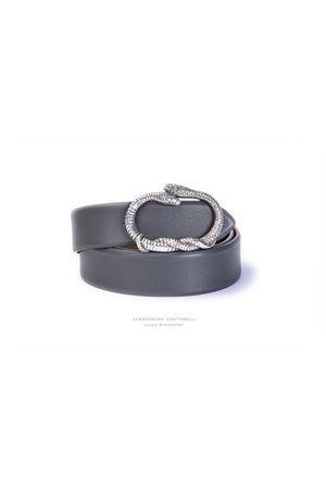 Cintura  in pelle bovina bio-naturale ALESSANDRA FONTANELLI | 22 | SERPENTE h35GRIGIO