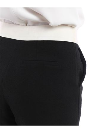 Floral embossed cotton shorts TARA JARMON | 30 | 14335 P033699 BLACK