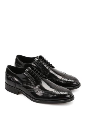 LEATHER LACE-UP SHOES TOD