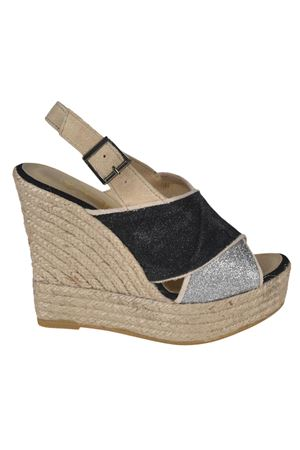 Skype criss cross straps sandals ESPADRILLES | 5032236 | SKYPEGLITTERFINONEGROPLATINO
