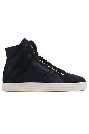 Sneaker alte R141 in glitter HXW1820I650GAQU810 HOGAN | 5032239 | HXW1820I650GAQU810