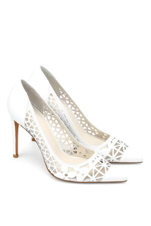 Stuart WeitzmanCutuptown laser-cut leather pumps STUART WEITZMAN | 5032240 | CUTOPTOWNWHITE