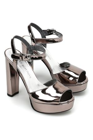 Sashay mirrored leather sandals STUART WEITZMAN | 5032241 | SASHAYPEWTER